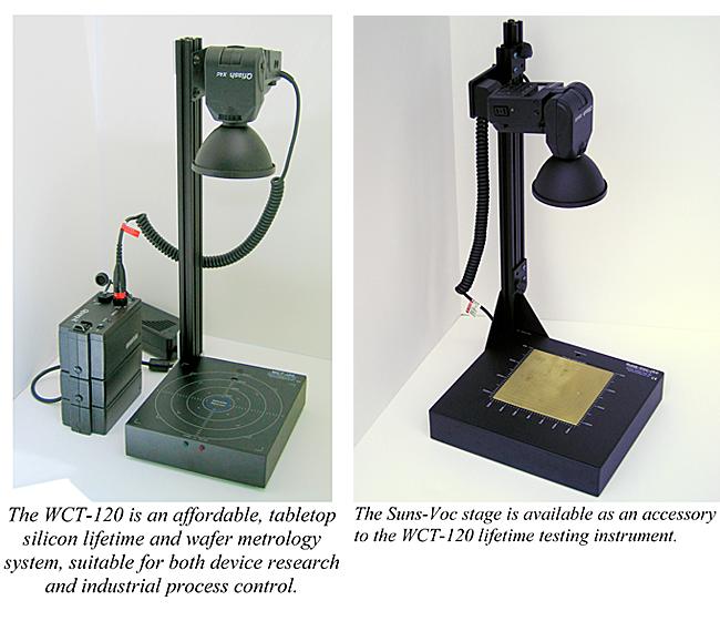 シントンインストルメンツ社サイトのシリコンウェハーのLifetime測定器とP,Nの拡散層を評価する装置